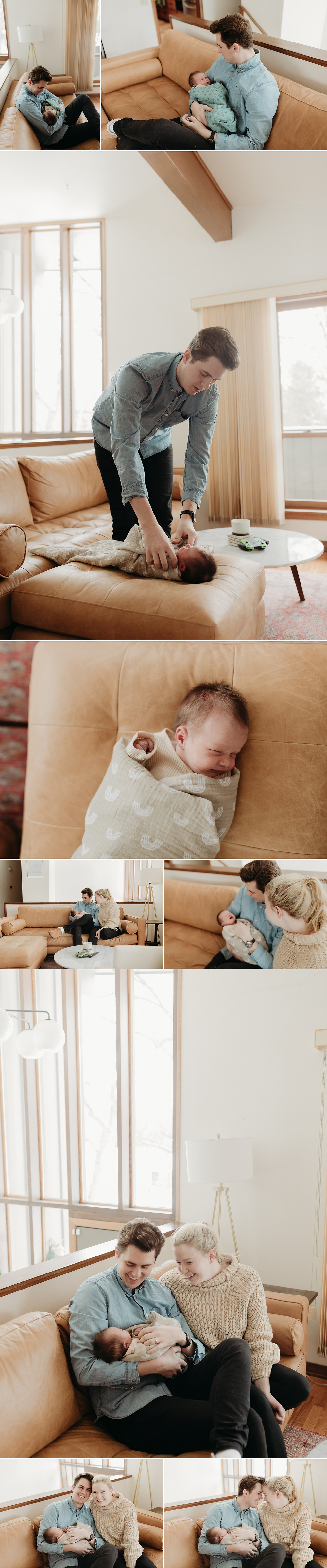 newborn lifestyle photography session in nursery