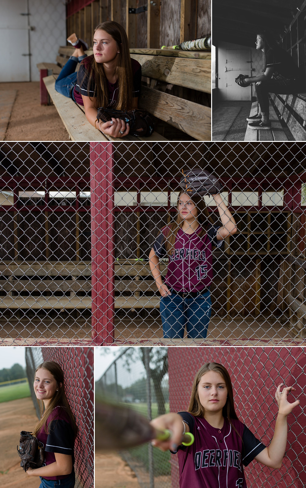 High school senior pictures of Abby from Deerfield Wisconsin.