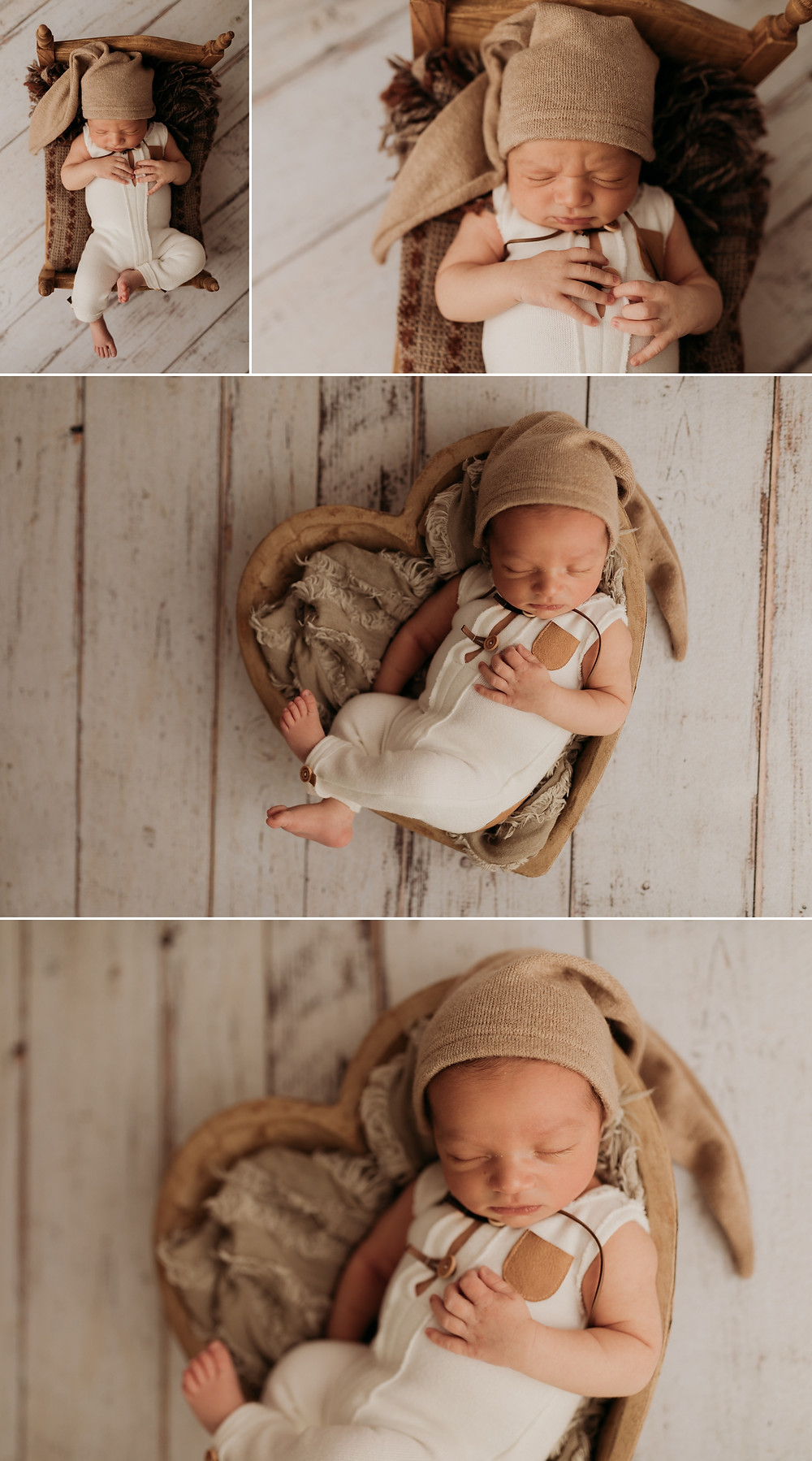 newborn photos with baby in a prop