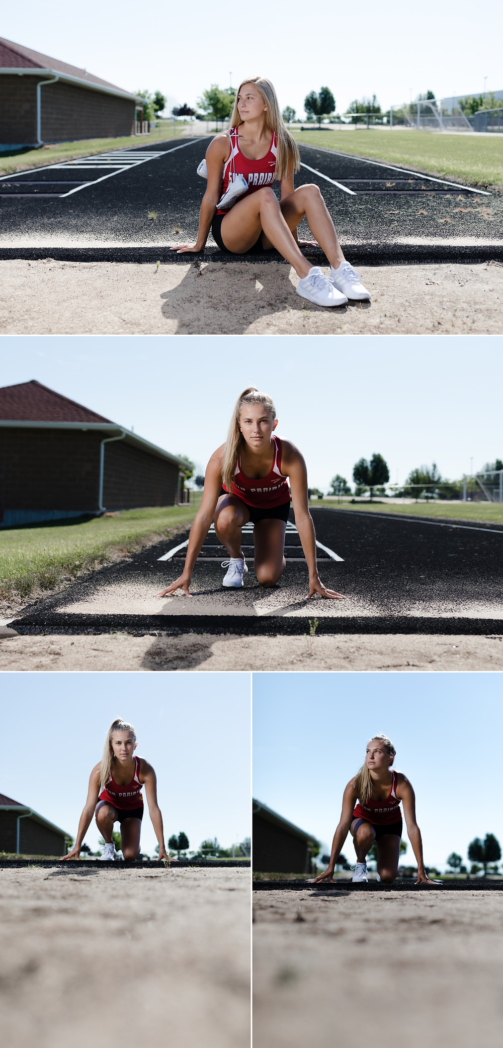 Sun Prairie senior photos of volleyball player