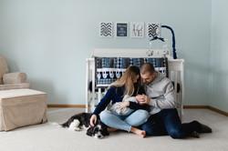 in home family newborn photo