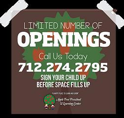 preschool openings