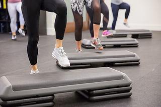 Step Fitness Class Brick Canvas