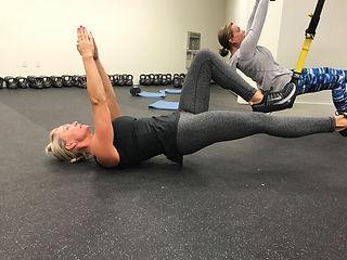 TRX Pilates Fitness Class Brick Canvas