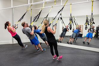 TRX Kettlebell Fitness Class Brick Canvas