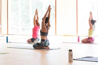 Bikram Yoga Fitness Class Brick Canvas