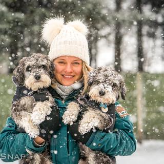 Snowy cuddles