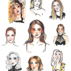 Live Drawing Portraits Watercolor 2018