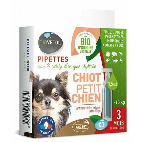 Copie de PIPETTES INSECTIFUGES * 3 - CHIOT , PETIT A GRAND CHIEN