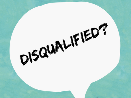 Do you feel disqualified?