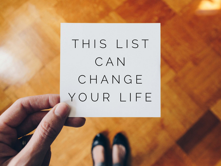 This List Can Change Your Life