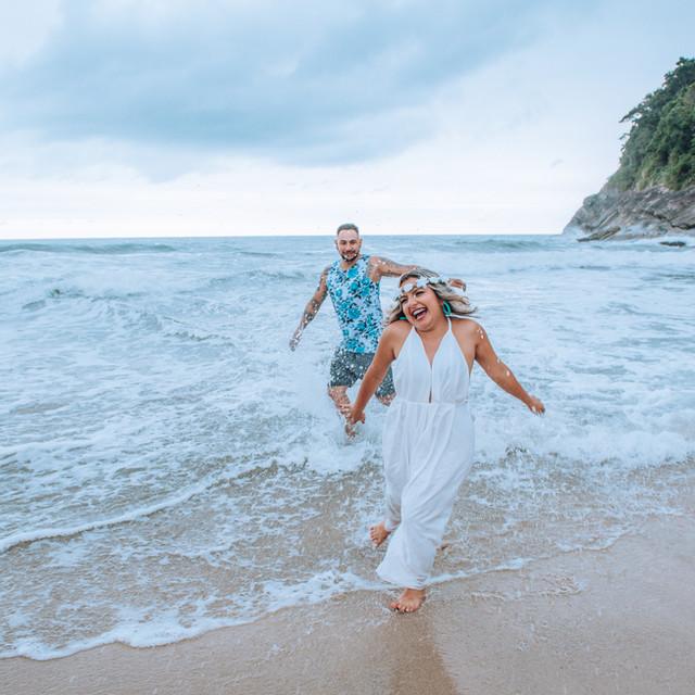 Barbara e Diego - Ensaio Praia