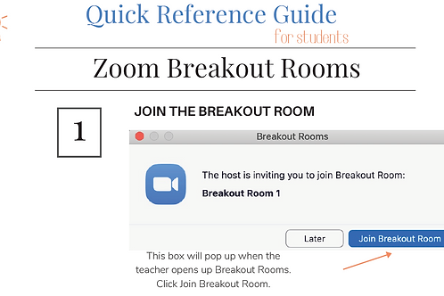 Zoom: Breakout Rooms for Students Quick Reference Guide