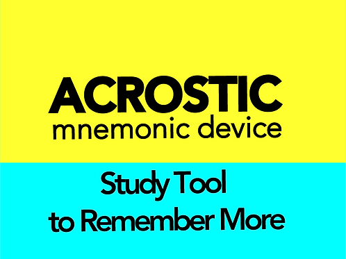 How to Make & Use Acrostic Devices for Studying