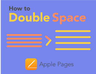 Apple Pages: How to Double Space