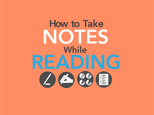 How to Take Notes While Reading Quick Reference Guide