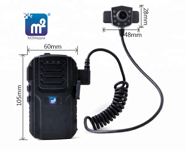 """Носимый видеорегистратор """"М2Медиа-Body"""" с выносной камерой"""