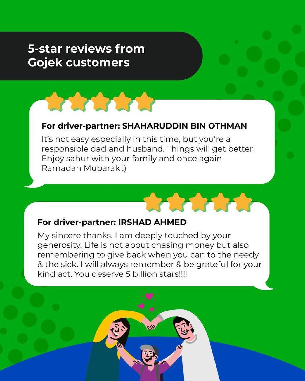 Gojek customer reviews