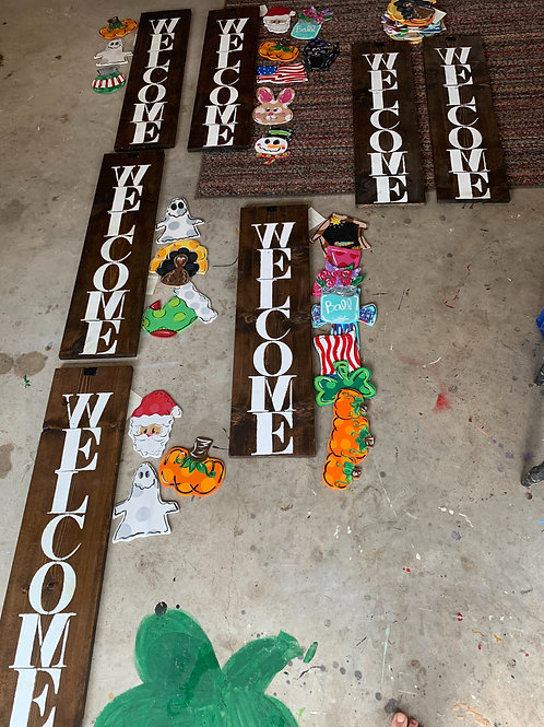 Holiday sale welcome plank