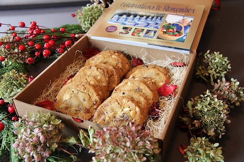 Gourmet Gift Box- Includes Celebrations Book & Cranberry White Chocolate Cookies