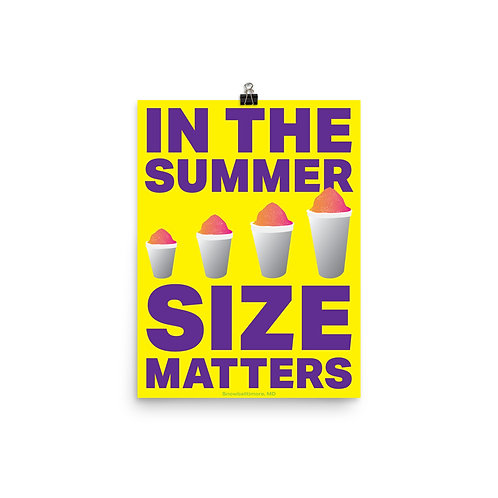 In the Summer, Size Matters Poster