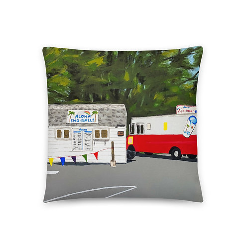 Aloha Sno-Balls Basic Pillow