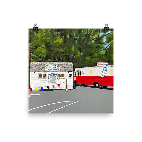 Aloha Sno-Balls painting print