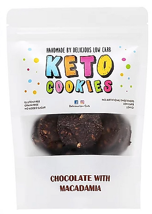 Delicious Low Carb - Keto Cookies Chocolate with Macadamia 100gr