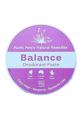 Aunty Amy's Natural Remedies - Balance Deodorant Paste