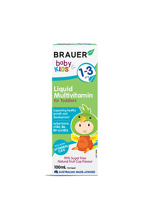 Brauer - Baby & Kids Multivitamin for Toddlers 100ml