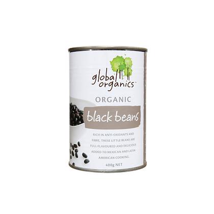 Global Organics - Black Beans Tinned 400g