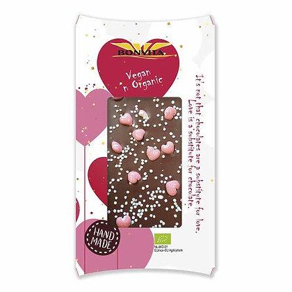 Bonvita - Organic Mylk Choc with Pink Hearts