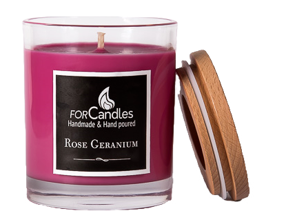 For Candles - Rose Geranium Soy Candle