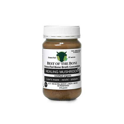 Best of The Bone - Grass Fed Bone Broth Concentrate Healing Mushroom 375g