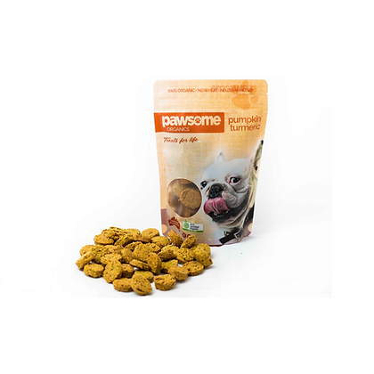 Pawsome Organics - Dog Treats (Pumpkin & Turmeric) 250g