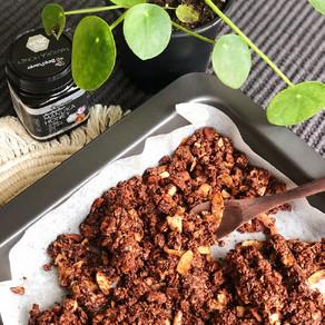 Choc peanut butter almond crunch granola