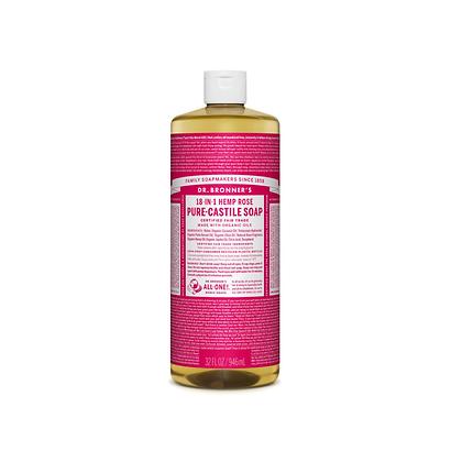Dr Bronner's - Pure Castile Liquid Soap Rose