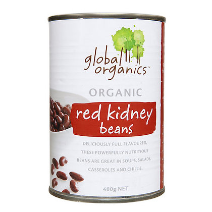 Global Organics -  Beans Red Kidney Organic (canned) 400g