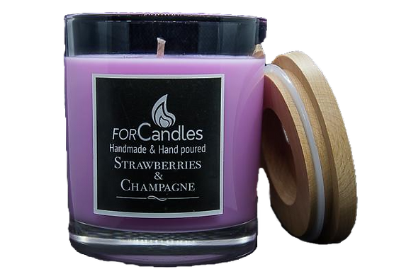 For Candles - Strawberries & Champagne Soy Candle