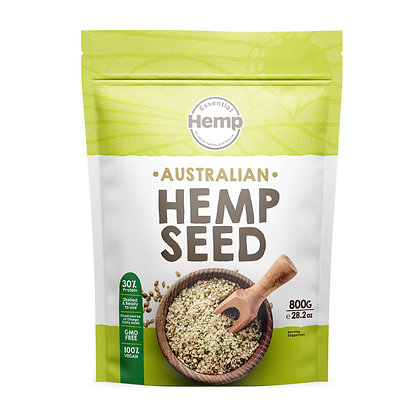 Hemp Foods Australia - Aus Grown Conventional Hulled Hemp Seeds 800g