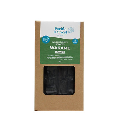 Pacific Harvest - Wakame Seaweed Leaves (Wild Harvested) 20g