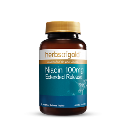 Herbs of Gold -Niacin 100mg Extended Release 60T
