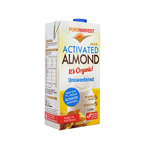 Pure Harvest - Unsweetened Almond Milk 1ltr
