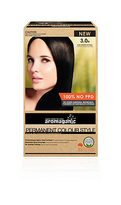 Aromaganic - Permanent Colour Style  3.0N Dark Brown (Natural)