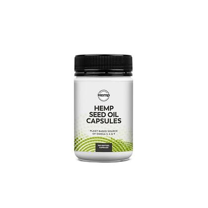 Hemp Foods Australia - Hemp Seed Oil Capsules 100c
