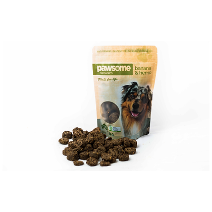 Pawsome Organics - Dog Treats (Banana & Hemp) 250g