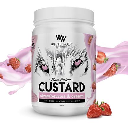 White Wolf - Strawberries & Cream Custard Plant Protein