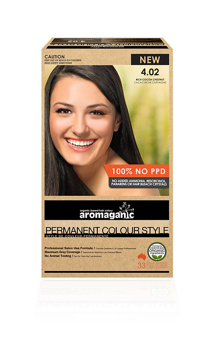 Aromaganic - Permanent Colour Style  4.02 Rich Cocoa Chestnut