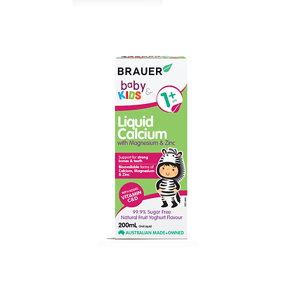 Brauer - Baby & Kids Liquid Calcium with Magnesium and Zinc 200ml