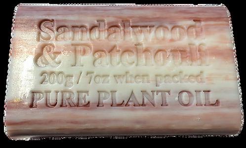 Destination Health - Sandalwood & Patchouli Pure Plant Oil Soap 200gm